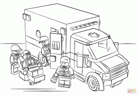 Lego Ambulance coloring page