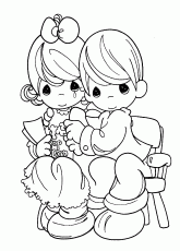 precious moments coloring page on love precious moments nativity ...