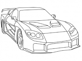 fast and furious coloring page - Fast Furious Coloring Pages