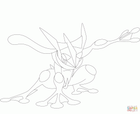 Greninja coloring page | Free Printable Coloring Pages