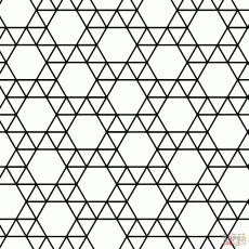 Tessellation with Triangle and Hexagon coloring page | Free ...