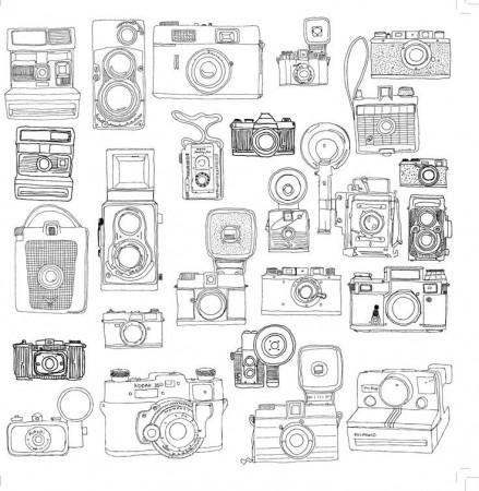 kodakcam photo camera coloring page wecoloringpage coloring home