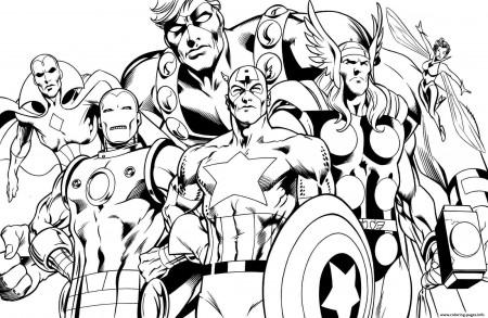 print superhero avengers sheets little kids coloring pages