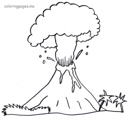 V Is For Volcano Coloring Page Hawaiian Pages