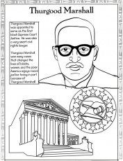 Black History Month Coloring Pages: Thurgood Marshall