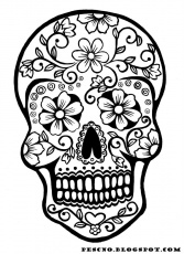 free sugar skull printable coloring pages