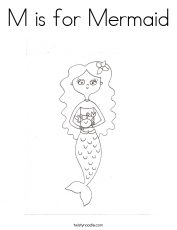 For my little Mermaid Coloring Page - Twisty Noodle