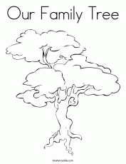Our Family Tree Coloring Page Pages Leafless