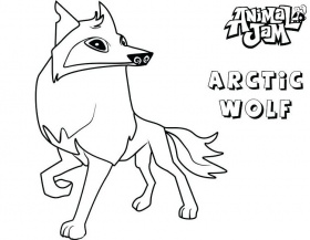 animal jam coloring pages arctic wolf in 2019 | Fox coloring ...