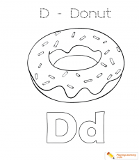 D Is For Donut 02 Coloring Page | Free D Is For Donut ...