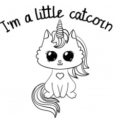 Coloring Pages for Kids Caticorn (Page 1) - Line.17QQ.com
