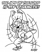 "The Joy of the LORD is My Strength"" Cartoon & Coloring Page ..."
