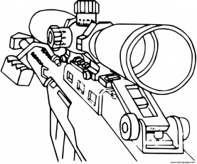 Call Of Duty Sniper Coloring Pages Printable