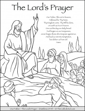 The Lord's Prayer - Our Father Prayer Coloring Page - TheCatholicKid.com | Our  father prayer, Prayer for fathers, The lords prayer