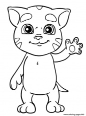 Mini Talking Tom Coloring Pages Printable