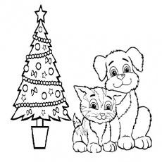 Dog cat coloring page Dog coloring page | Salim.holliefindlaymusic.com