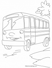 School Bus Safety Coloring Page