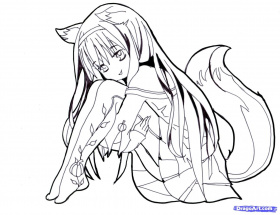 Best Photos of Anime Fox Coloring Pages - Cute Anime Chibi Cat ...