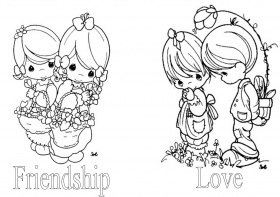 precious moments coloring pages autumn - photo#24