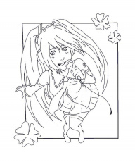 16 pics of vocaloid anime miku coloring pages - anime miku line ... - Hatsune Miku Chibi Coloring Pages