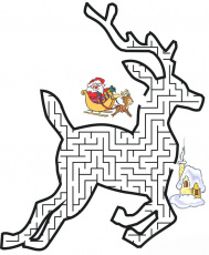 Christmas Mazes - Best Coloring Pages For Kids