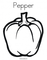 Pepper Coloring Page, Coloring Page Template Printing Printable Food Coloring  Pages for Kid… in 2020 | Stuffed green peppers, Fruit coloring pages,  Vegetable coloring pages