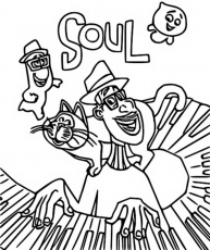 Soul Pixar coloring pages