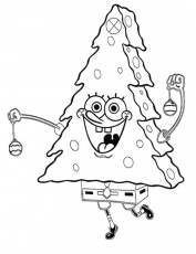 Spongebob Christmas - Coloring Pages for Kids and for Adults