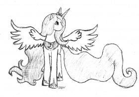 Mlp Princess Luna Coloring Pages Sketch Coloring Page