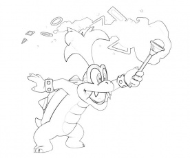 Morton Koopa in Helkopter Coloring Pages (Page 5) - Line.17QQ.com