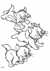 Of Kittens - Coloring Pages for Kids and for Adults