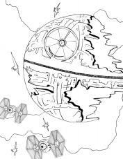 Star Wars Death Star Coloring Page | Mama Likes This
