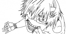The best free Kaneki coloring page images. Download from 10 free ...