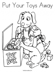 Put Your Toys Away Coloring Page - Twisty Noodle