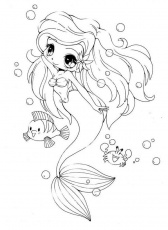 Anime Chibi Mermaid Coloring Pages – Coloring Pics