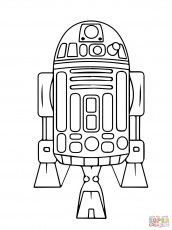 Astromech Droid R2-D2 coloring page | Free Printable Coloring Pages