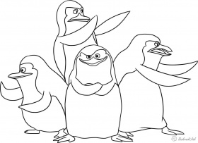 The Penguins of Madagascar Free Coloring pages online print.