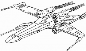 √ 24 X-wing Coloring Page in 2020 | Coloring pages, Coloring ...