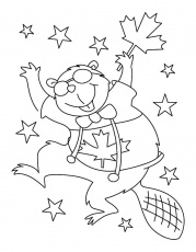 Beaver Dance On Canada Day Coloring Pages - Download & Print ...