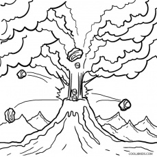 Printable Volcano Coloring Pages For Kids | Cool2bKids