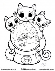 Christmas Globe Coloring Pages Coloring Pages For All Ages