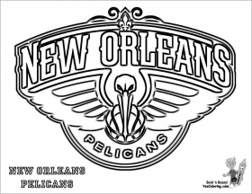 New orleans Pelicans Coloring Pages - ColoringBay