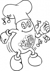 Dancing Jelly Bean Coloring Page