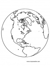 Globe Coloring | Free Coloring Pages on Masivy World