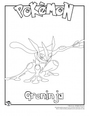 Greninja Coloring Page | Woo! Jr. Kids Activities