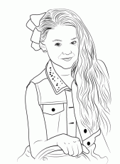 Jojo Siwa Coloring Pages | Coloring pages, Cute coloring ...