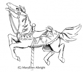 7 Pics Of Simple Coloring Page Carousel Animals