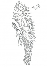 Coloring page feather headdress - img 9903.