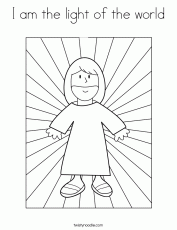 I am the light of the world Coloring Page - Twisty Noodle
