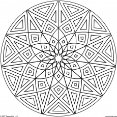 15 Pics of Complicated Geometric Coloring Pages - Kaleidoscope ...